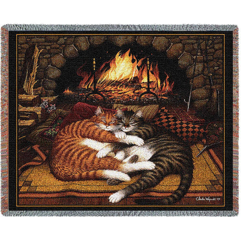 All Burned Out Art Tapestry Throw