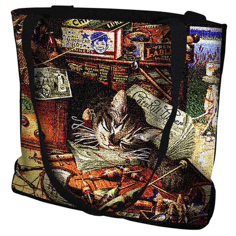 Max the Cat In The Adirondacks Art Tapestry Tote Bag