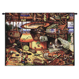 Max The Cat In The Adirondacks Art Tapestry Wall Hanging