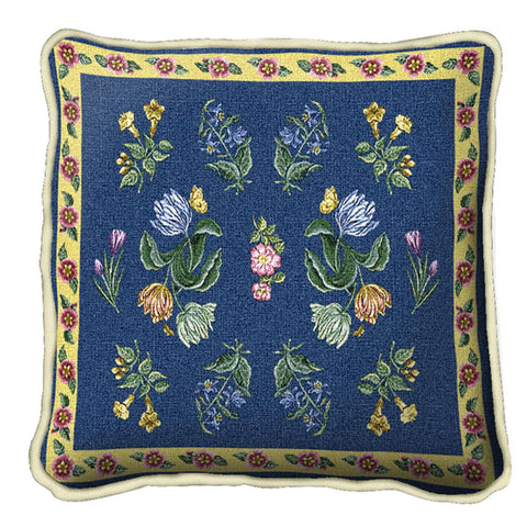 Greysons Floral Art Tapestry Pillow