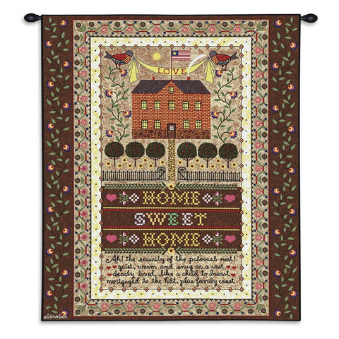 Home Sweet Home Art Tapestry Wall Hanging