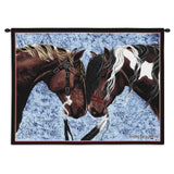 Horse Warriors Truce Art Tapestry Wall Hanging