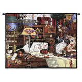 Maggie The Messmaker Cat Art Tapestry Wall Hanging