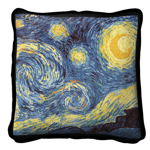 Van Gogh's The Starry Night Art Tapestry Pillow