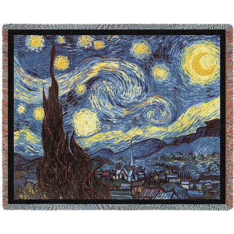 Van Gogh's The Starry Night Art Tapestry Throw