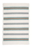 Alluring Rectangle Braided Wool Blend Rug, AL09 Juniper Green Stripes
