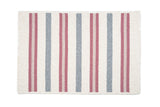 Alluring Rectangle Braided Wool Blend Rug, AL79 Mauveberry Pink Stripes