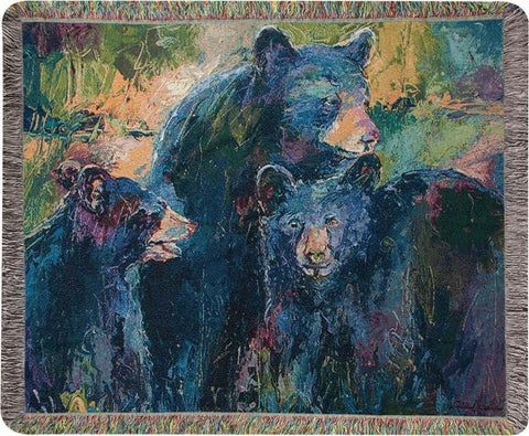 "Bear Family by Richard Wallich Tapestry Throw 60""x50"""