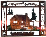 At the Cabin Frame-Style Metal Wall Art