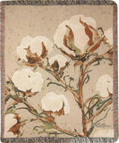 "Cotton Stalks by Martha Collins Tapestry Throw 50""x60"""