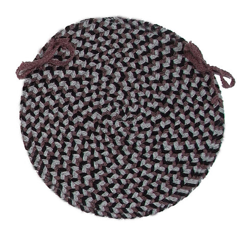 Boston Common Round Braided Chair Pad, BC42 Purple Haze