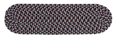 Boston Common Oval Braided Stair Tread, BC42 Purple Haze
