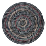 Boston Common Round Braided Rug, BC52 Winter Blues