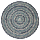 Boston Common Round Braided Rug, BC53 Capeside Blue