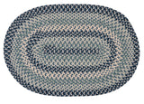 Boston Common Oval Braided Rug, BC53 Capeside Blue