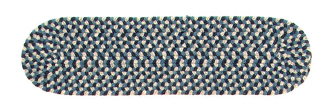 Boston Common Oval Braided Stair Tread, BC53 Capeside Blue