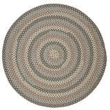 Boston Common Round Braided Rug, BC54 Driftwood Teal