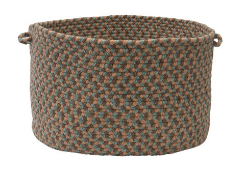 Boston Common Round Braided Basket, BC54 Driftwood Teal