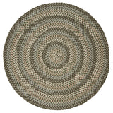 Boston Common Round Braided Rug, BC63 Moss Green