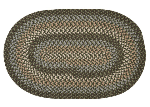 Boston Common Oval Braided Rug, BC63 Moss Green
