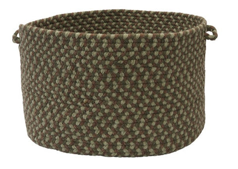 Boston Common Round Braided Basket, BC63 Moss Green