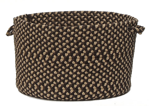 Brook Farm Indoor Outdoor Round Braided Basket, BF42 Blackberry