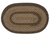 Brook Farm Indoor Outdoor Oval Braided Rug, BF42 Blackberry