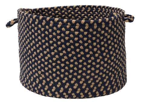 Brook Farm Indoor Outdoor Round Braided Basket, BF53 Bluestone