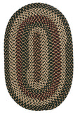 Brook Farm Indoor Outdoor Oval Braided Rug, BF62 Winter Green