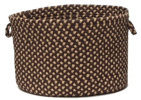 Brook Farm Indoor Outdoor Round Braided Basket, BF72 Natural Earth