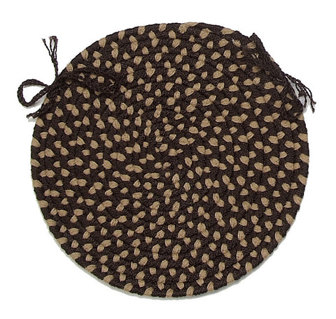 Brook Farm Indoor Outdoor Round Braided Chair Pad, BF72 Natural Earth