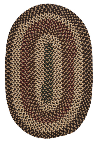Brook Farm Indoor Outdoor Oval Braided Rug, BF72 Natural Earth