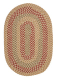 Brook Farm Indoor Outdoor Oval Braided Rug, BF82 Tea Stained