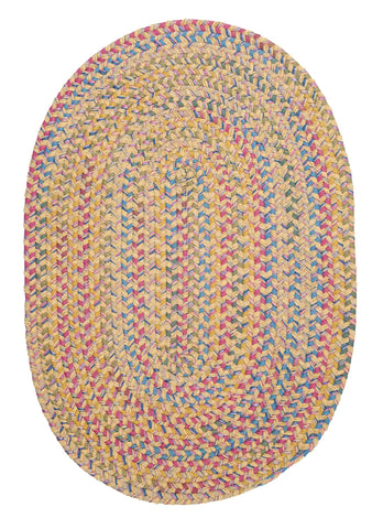 Tropical Garden Oval Braided Rug, BI30 Banana