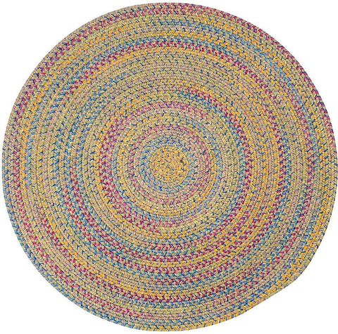 Tropical Garden Round Braided Rug, BI60 Kiwi