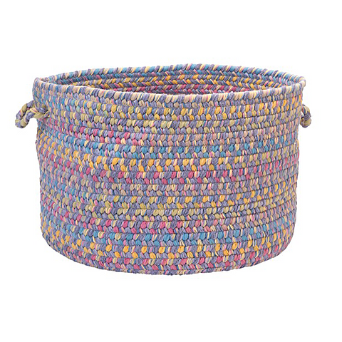 Tropical Garden Round Braided Basket, BI90 Amethyst