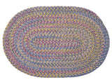 Tropical Garden Oval Braided Rug, BI90 Amethyst