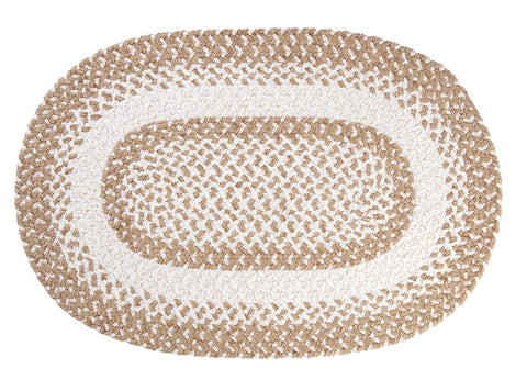 Chenille Blend Oval Braided Rug, BK19 Natural Wonder