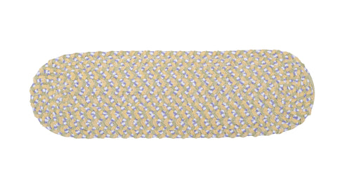 Chenille Blend Oval Braided Stair Tread, BK39 Daisy Dreams
