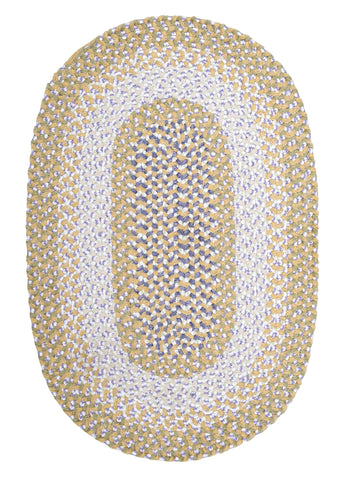 Chenille Blend Oval Braided Rug, BK39 Daisy Dreams