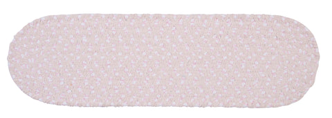 Chenille Blend Oval Braided Stair Tread, BK78 Blush Pink
