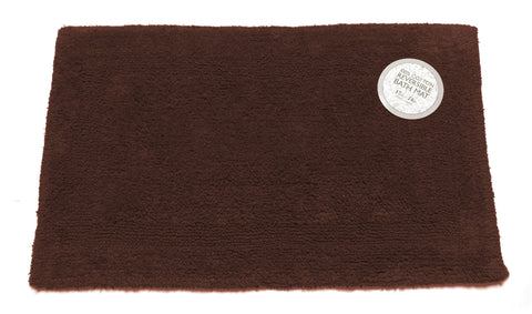 Brown Reversible 100% Cotton Bathroom Rug in 2 Sizes