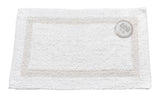 White Reversible 100% Cotton Bathroom Rug in 2 Sizes