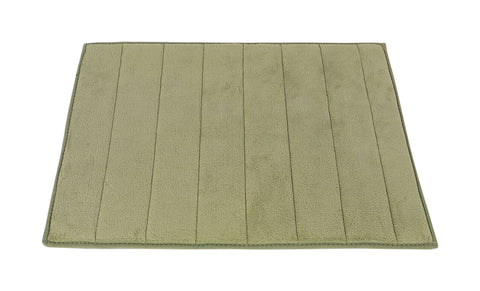Sage Green Ultra Luxurious Memory Foam Bath Rug in 2 Sizes
