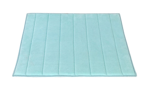 Spa Blue Ultra Luxurious Memory Foam Bath Rug in 2 Sizes