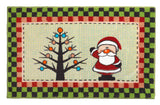 "Fanciful Santa Bathroom Rug with Non Skid Backing 19""x31"""