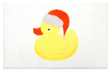 "Christmas Ducky Bathroom Rug with Non Skid Backing 19""x31"""