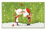 "Kissing Claus' Bathroom Rug with Non Skid Backing 19""x31"""