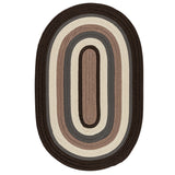 Brooklyn Indoor Outdoor Oval Braided Rug, BN19 Brownstone