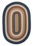 Brooklyn Indoor Outdoor Oval Braided Rug, BN59 Blue Haze